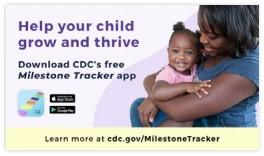Web button image for CDC's Milestone Tracker app