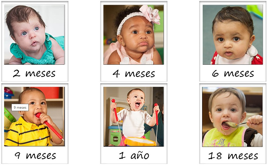 Imágenes de seis bebés y niños